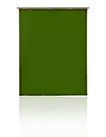 Pascal T75 zasłona spawalnicza, kolor zielony, rozmiar 130x160