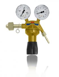 GCE Din-Control Dinox O2 reduktor butlowy z zaworem odcinającym