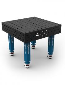 GPPH stół spawalniczy tradycyjny 1000x1000 mm noga na kółku ze stopką