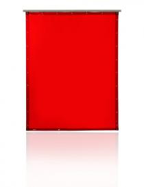 Pascal T40 zasłona spawalnicza, kolor czerwony, rozmiar 130x180