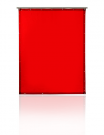 Pascal T40 zasłona spawalnicza, kolor czerwony, rozmiar 130x160